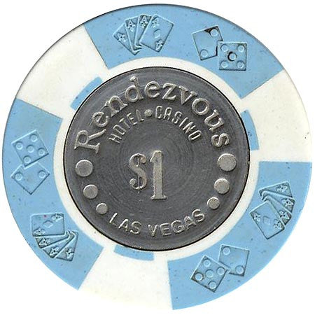 Rendezvous Casino $1 (blue/white) chip