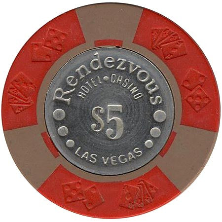 Rendezvous Casino $5 (red) chip - Spinettis Gaming - 2