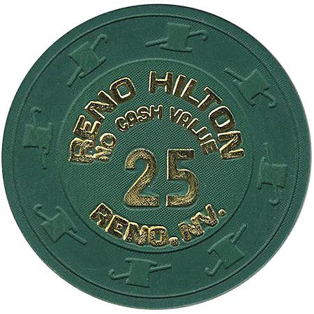 Reno Hilton 25 (NCV) (green) chip