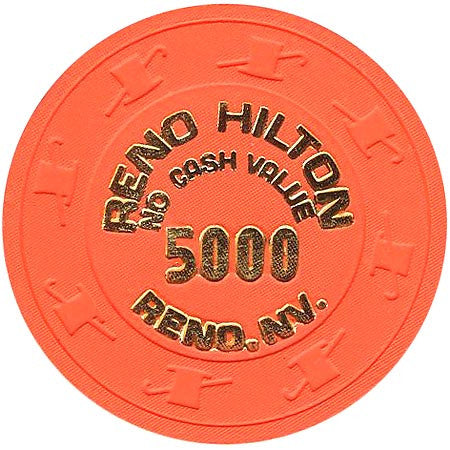 Reno Hilton (NCV) 5000 (bright orange) chip