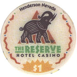 The Reserve Casino (beige), Henderson NV $1 Casino Chip - Spinettis Gaming - 1