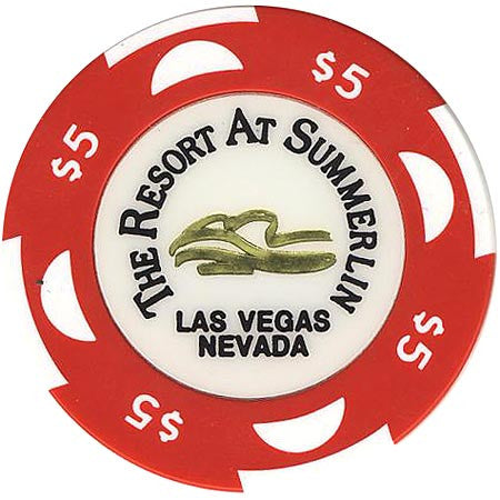 The Resort At Summerlin $5 (red) chip