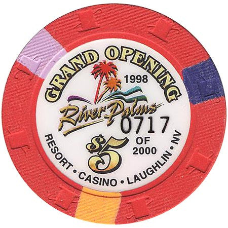 River Palms $5 (red) Grand Opening chip - Spinettis Gaming