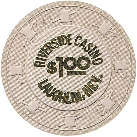 Riverside Casino $1 (beige) chip - Spinettis Gaming - 2