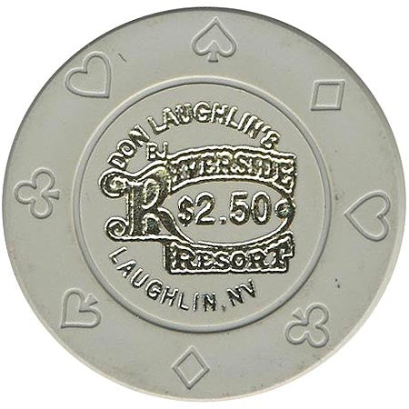 Riverside $2.50 (gray) chip - Spinettis Gaming - 1