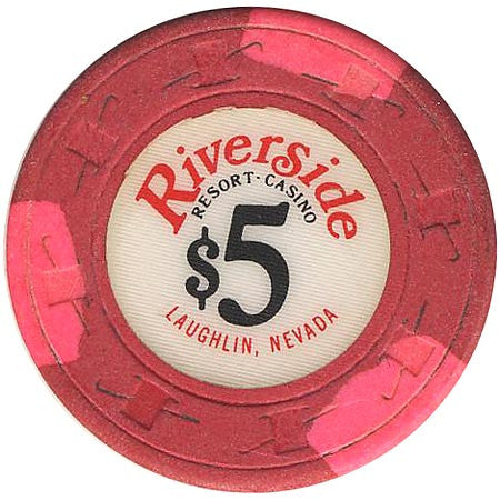 Riverside Casino $5 (red) chip