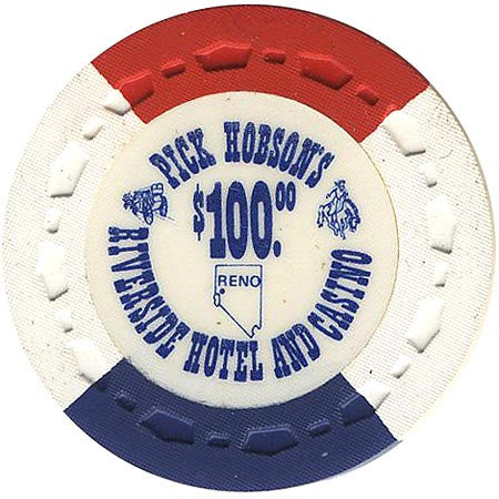Riverside Pick Hobson's Casino Reno NV $100 Chip 1978