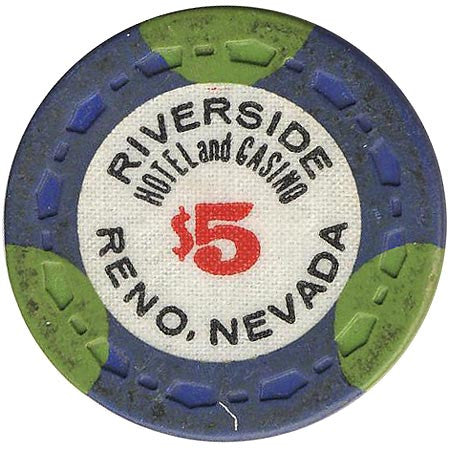 Riverside Casino $5 (blue/green) chip