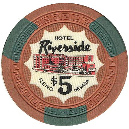 Riverside Casino Reno NV $5 Chip 1956