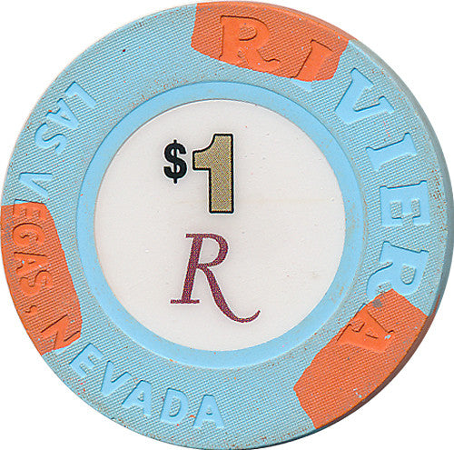 Riviera, Las Vegas NV $1 Casino Chip - Spinettis Gaming - 1