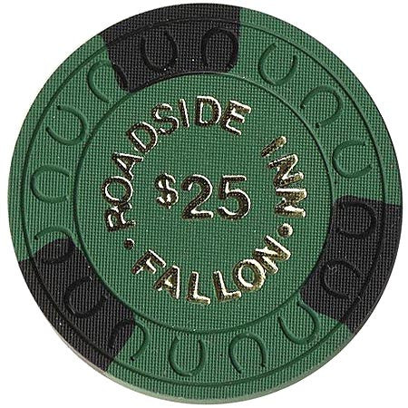 Roadside Inn $25 (green) chip - Spinettis Gaming - 1