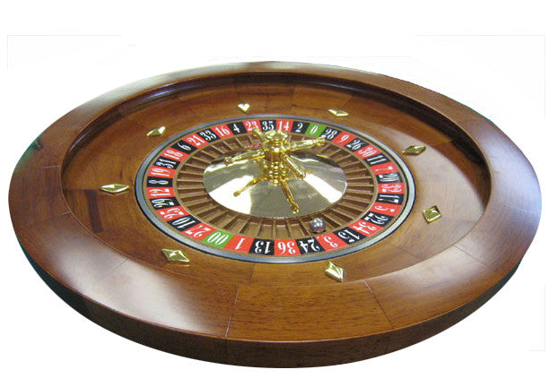 16'' Wood Casino Style Roulette Wheel (rental) - Spinettis Gaming