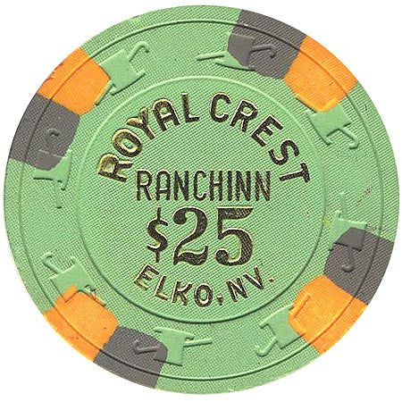 Royal Crest $25 (green) chip - Spinettis Gaming - 1