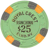 Royal Crest $25 (green) chip - Spinettis Gaming - 2