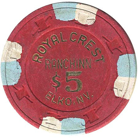 Royal Crest $5 (red) chip - Spinettis Gaming - 1