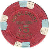 Royal Crest $5 (red) chip - Spinettis Gaming - 2