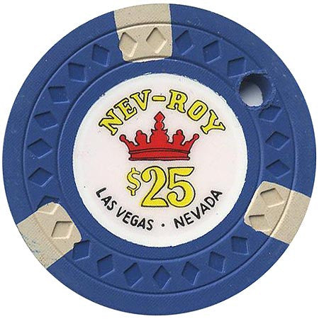 Royal Nevada Hotel $25 (blue) canceled chip - Spinettis Gaming - 1