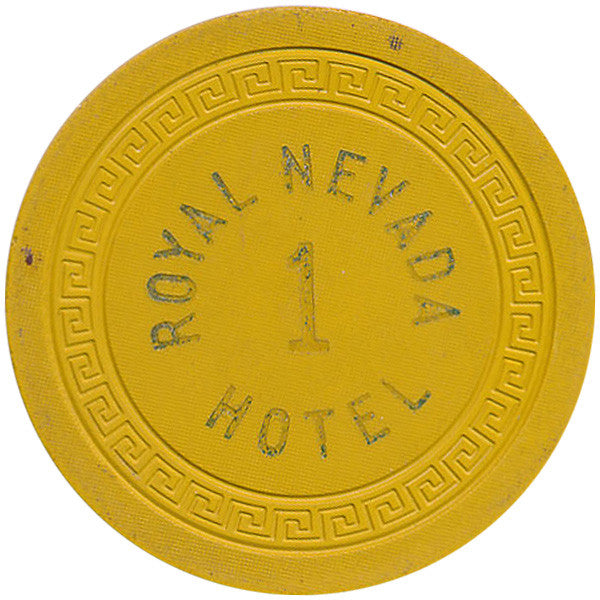 Royal Nevada Hotel 1 Roulette Chip (Yellow)