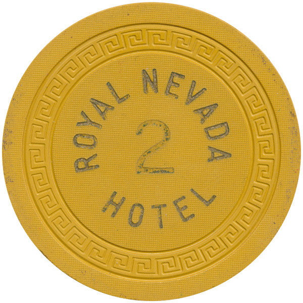 Royal Nevada Hotel 2 Roulette Chip (Yellow)
