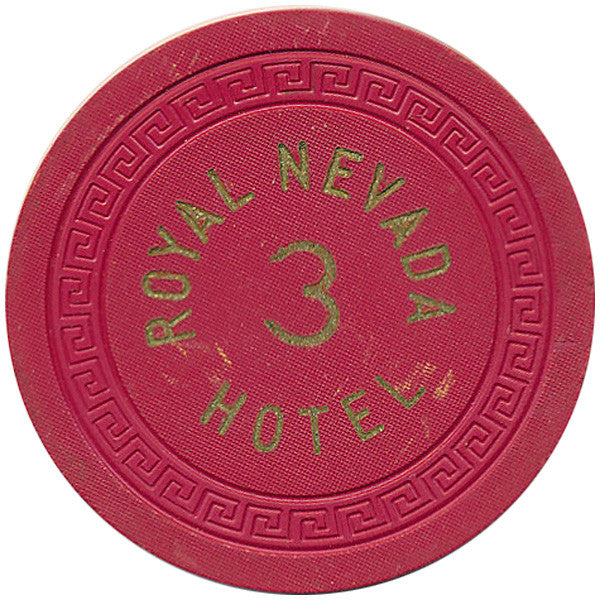 Royal Nevada Hotel 3 Roulette Chip (Red)
