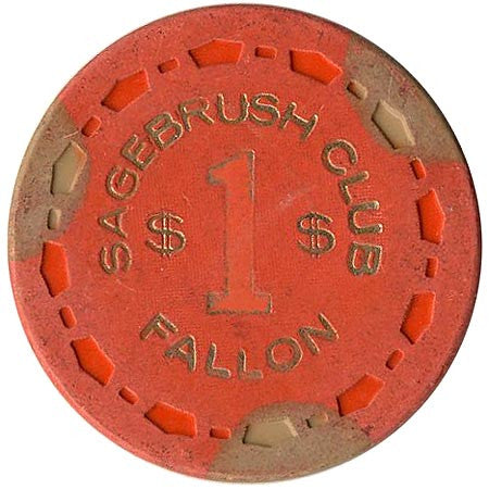 Sagebrush Club $1 (orange) chip