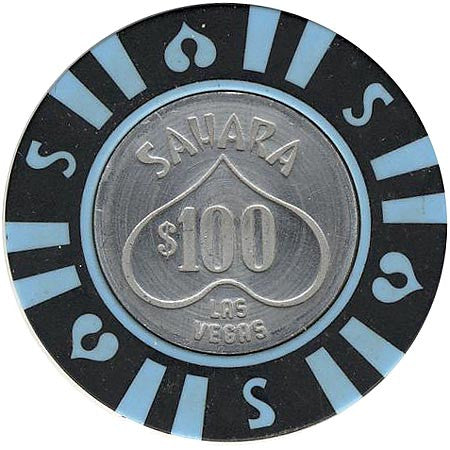 Sahara Hotel $100 (black) chip - Spinettis Gaming - 1