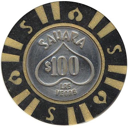 Sahara Casino $100 (black) chip - Spinettis Gaming - 1