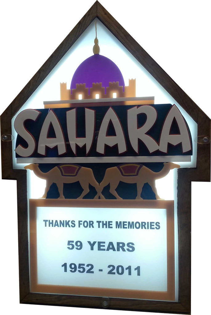 Sahara Casino Marquee Sign Lighted Replica