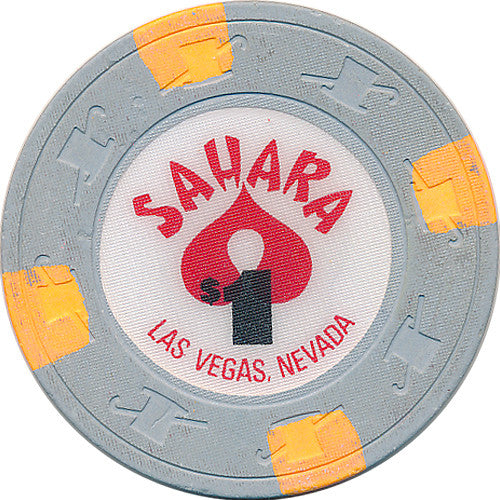 Sahara $1 (gray) chip Without Face