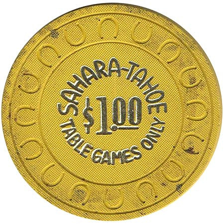 Sahara Tahoe $1 (yellow) chip - Spinettis Gaming - 2
