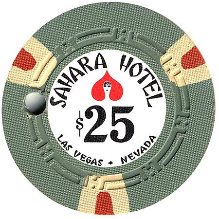 Sahara Hotel $25 (olive) canceled chip - Spinettis Gaming