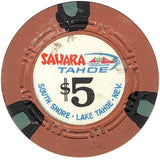Sahara Tahoe $5 (orange) chip - Spinettis Gaming - 1