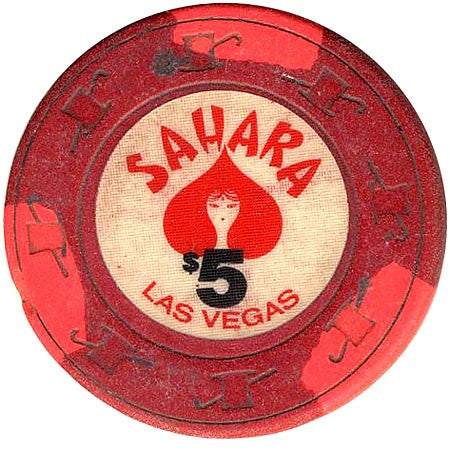 Sahara Casino $5 (red) Paulson chip