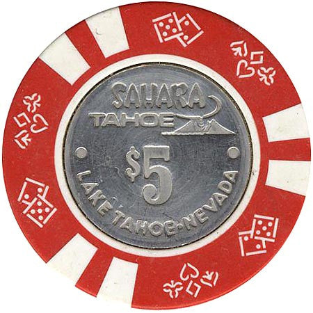 Sahara Tahoe $5 (red) chip - Spinettis Gaming - 1
