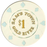 Sam's Town $1 (white) chip - Spinettis Gaming - 1
