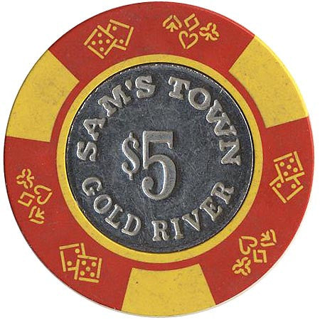 Sam's Town $5 (red/yellow) chip