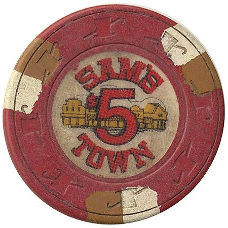Sam's Town $5 (red) chip