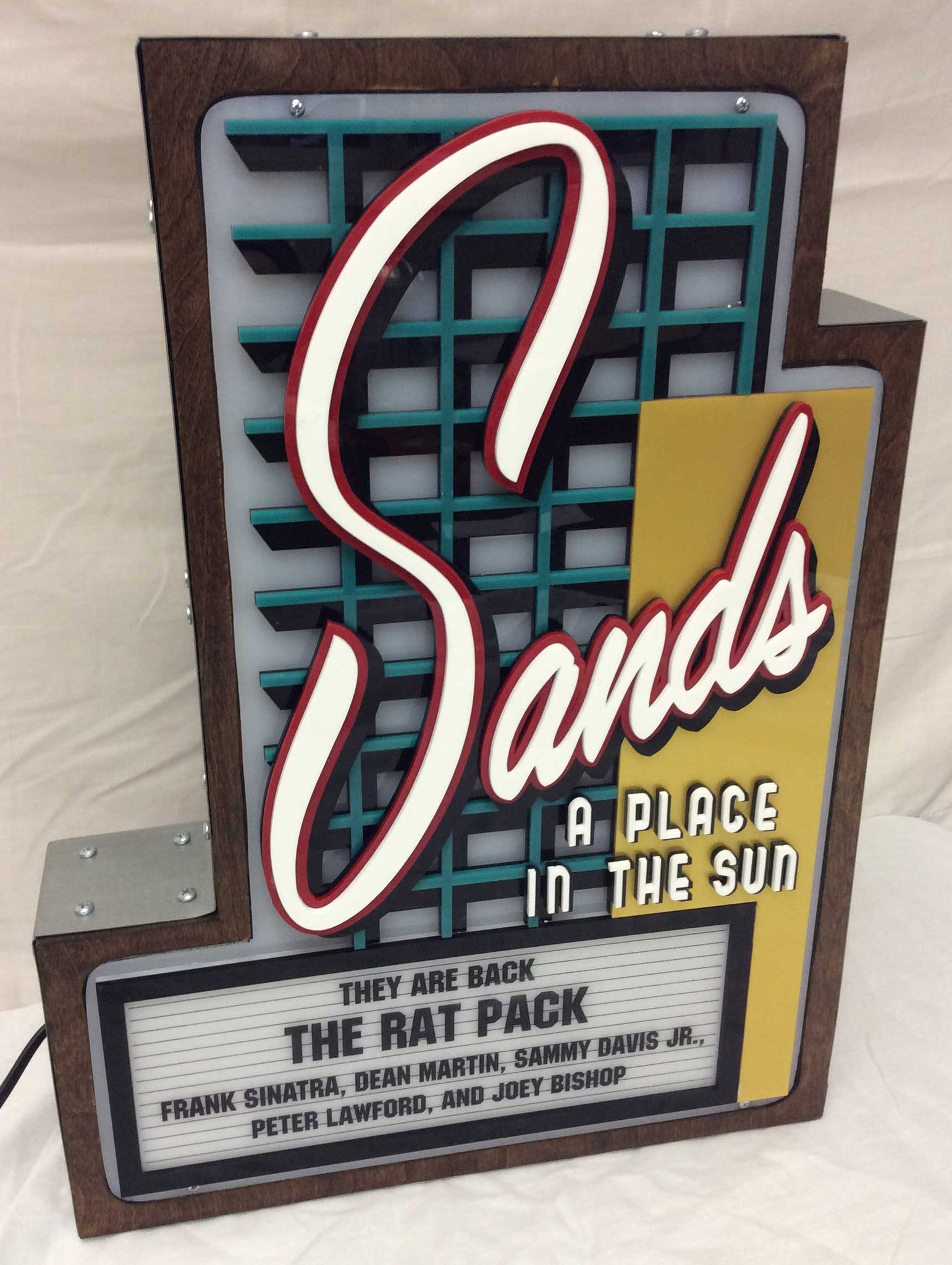 Sands Casino Marquee Sign Lighted Replica - Spinettis Gaming - 1