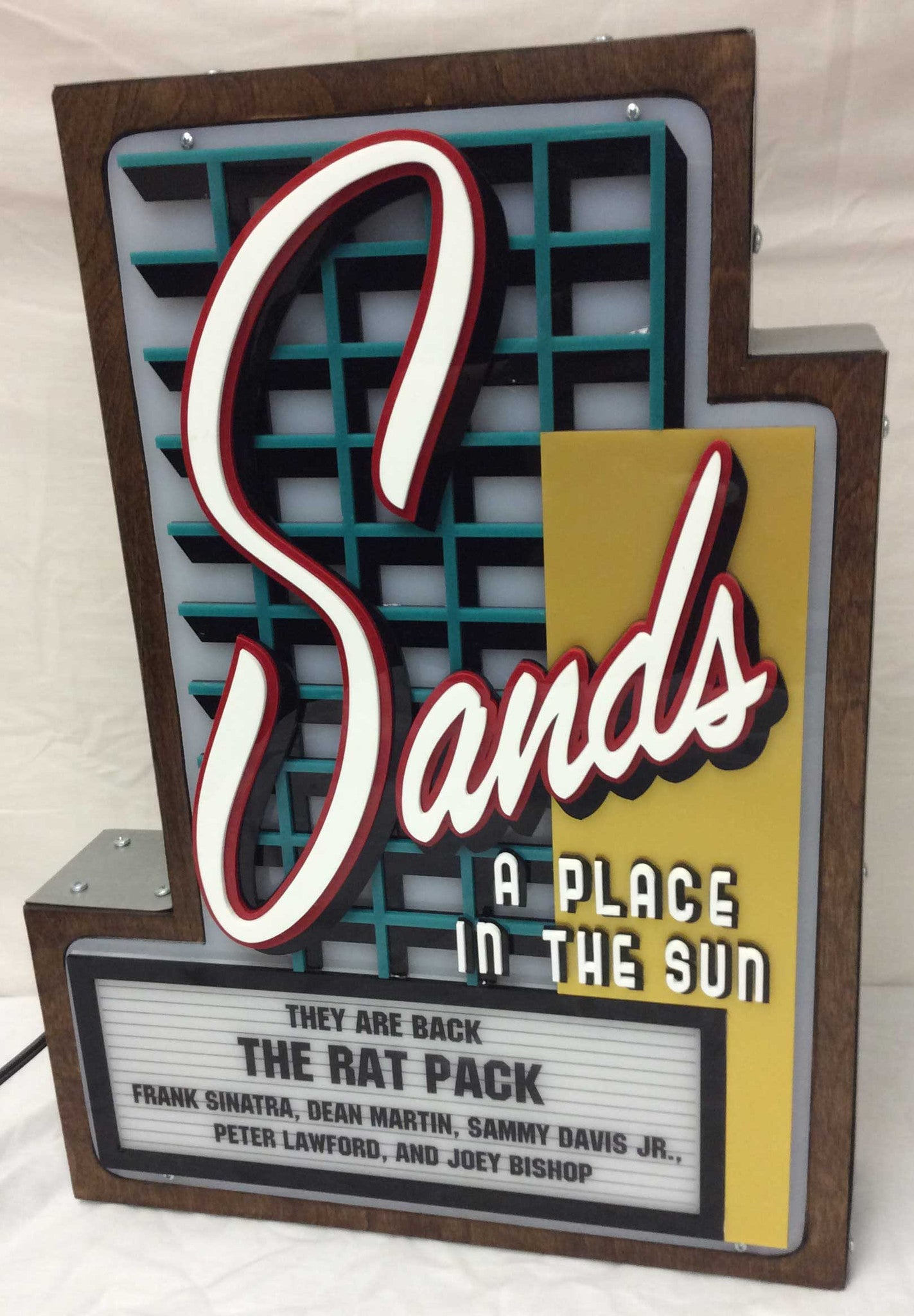 Sands Casino Marquee Sign Lighted Replica Spinettis