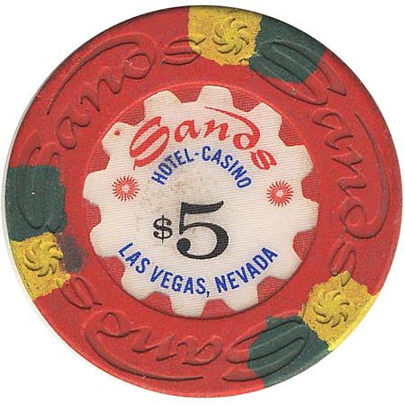 Sands $5 (red) chip - Spinettis Gaming - 1