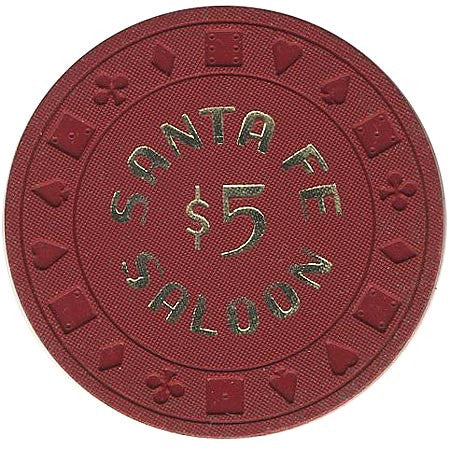 Santa Fe Saloon Goldfield NV $5 Chip 1981