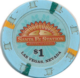 Santa Fe, Las Vegas NV $1 Casino Chip - Spinettis Gaming - 1
