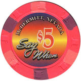 Say When $5 (pink) chip - Spinettis Gaming - 2
