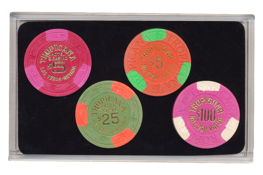 Tropicana Las Vegas Casino Collector 3rd edition 4 Chip Set