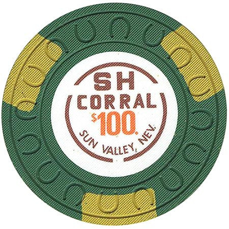 SH Corral $100 (green) chip
