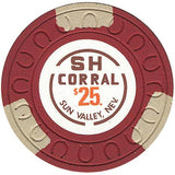 SH Corral $25 (red) chip - Spinettis Gaming - 2