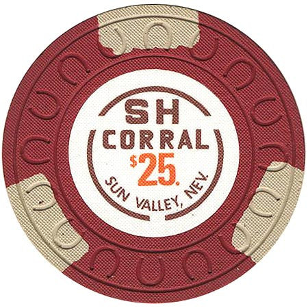 SH Corral $25 (red) chip - Spinettis Gaming - 1