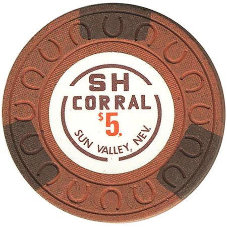 SH Corral $5 (brown) chip - Spinettis Gaming - 1