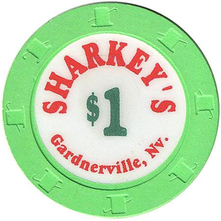 Sharkey's $1 (bright green) chip