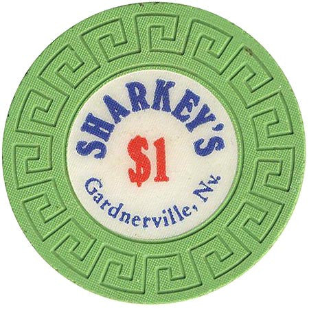 Sharkey's $1 (green) (Large Key Mold) chip